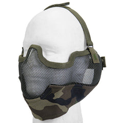 Woodland Full Face Mesh Mask (MESHMASKF) / Mask - Totowa Airsoft