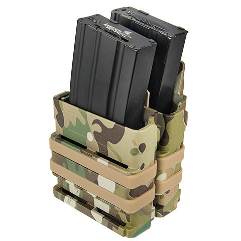 Double Quick Draw MOLLE Pouch Multicamo (QDM4X2M) / Airsoft Rifle Magazine Pouch - Totowa Airsoft
