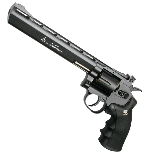 "Dan Wesson 8"" Black Magic Revolver (ASPC134) / CO2 Revolver Airsoft Pistol - Totowa Airsoft"