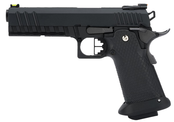 Hi-Capa Black Ace 1911 Pistol by Armorer Works Custom (ASPG180) / Green Gas Airsoft Pistol - Totowa Airsoft