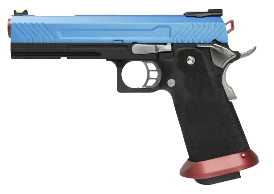 Hi-Capa Captain America 1911 Pistol by Armorer Works Custom (ASPG181) / Green Gas Airsoft Pistol - Totowa Airsoft