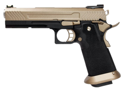 Hi-Capa Desert Tan 1911 Pistol by Armorer Works Custom (ASPG182) / Green Gas Airsoft Pistol - Totowa Airsoft