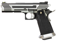 Hi-Capa Zebra 1911 Pistol by Armorer Works Custom (ASPG177) / Green Gas Airsoft Pistol - Totowa Airsoft
