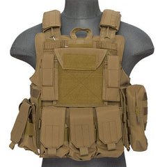 Tan Deluxe Strike Plate Carrier Vest (VESTDLXSPT) / Tactical Vest - Totowa Airsoft