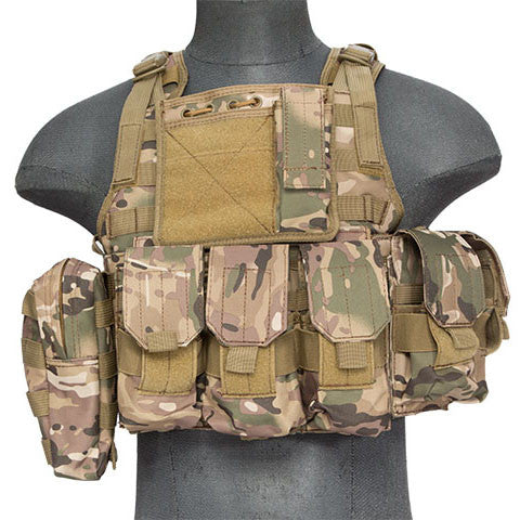 Multicam Tactical Assault Plate Carrier Vest (TAC2VEST) / Tactical Vest - Totowa Airsoft