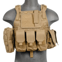 Coyote Tactical Assault Plate Carrier Vest (TAC2VEST) / Tactical Vest - Totowa Airsoft