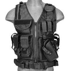 Black G2 Cross Draw Tactical Vest (TACVEST1) / Tactical Vest - Totowa Airsoft