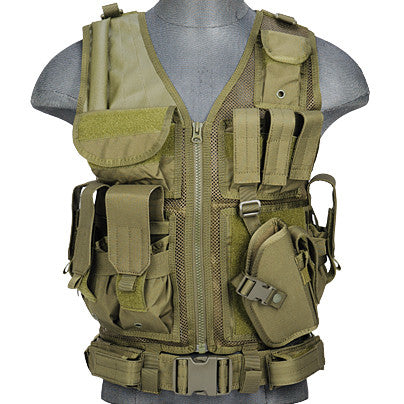 OD G2 Cross Draw Tactical Vest (TACVEST1) - Totowa Airsoft