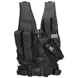 Black G2 Cross Draw Tactical Vest Youth (TACVESTK) / Tactical Vest - Totowa Airsoft
