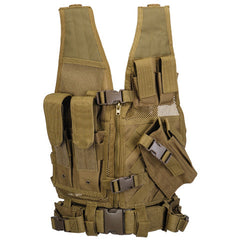 Khaki G2 Cross Draw Tactical Vest Youth (TACVESTK) / Tactical Vest - Totowa Airsoft