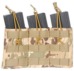 Triple Adjustable MOLLE Pouch Multicamo (VDAM3P) / Airsoft Rifle Magazine Pouch - Totowa Airsoft