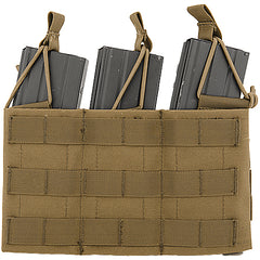 Triple Adjustable MOLLE Pouch Tan (VDAM3P) / Airsoft Rifle Magazine Pouch - Totowa Airsoft