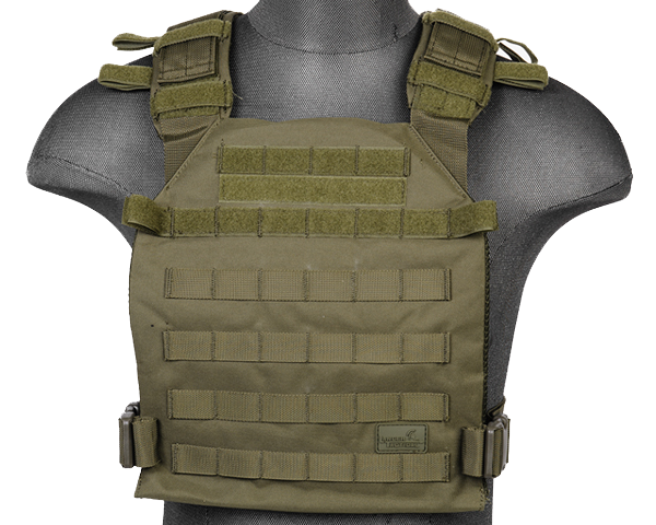 OD Lightweight Plate Carrier Vest (LWPC) / Tactical Vest - Totowa Airsoft