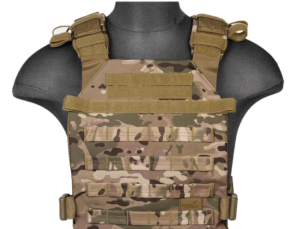 Multicam Lightweight Plate Carrier Vest (LWPC) / Tactical Vest - Totowa Airsoft