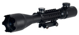 4-16x50mm Tri-Rail Illuminated Rifle Scope with Integrated Scope Mount (DEFENDERS) / Telescopic Sight - Totowa Airsoft
