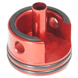 Double Airseal & Damper AEG Cylinder Head Red (MXCH) / Airsoft Repair Parts - Totowa Airsoft