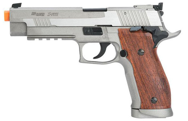 Sig Sauer P226 X-5 Wood Grip Pistol by KWC (ASPC161) / CO2 Airsoft Pistol - Totowa Airsoft