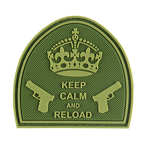 G-Force Keep Calm and Reload Patch (PATCH131) / Morale Patch - Totowa Airsoft