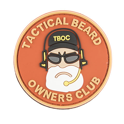G-Force Tactical Beard Owners Club Patch (PATCH077) / Morale Patch - Totowa Airsoft