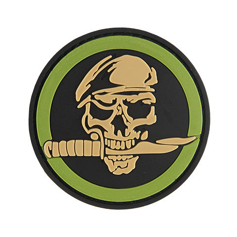 G-Force Skull and Knife Commando Patch (PATCH091) / Morale Patch - Totowa Airsoft