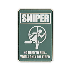 G-Force No Running Sniper Patch (PATCH093) / Morale Patch - Totowa Airsoft