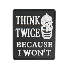 G-Force Think Twice Because I Wont Patch (PATCH132) / Morale Patch - Totowa Airsoft