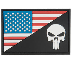 G-Force Punisher w. US Flag Patch (PATCH166) / Morale Patch - Totowa Airsoft