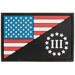 G-Force 3% w. US Flag Patch (PATCH112) / Morale Patch - Totowa Airsoft