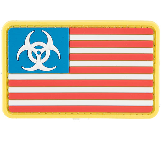 G-Force Biohazard US Flag Patch (PATCH106) / Morale Patch - Totowa Airsoft