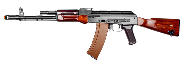 E&L AK74N Real Wood Rifle (ASRE375) / AEG Airsoft Rifle - Totowa Airsoft