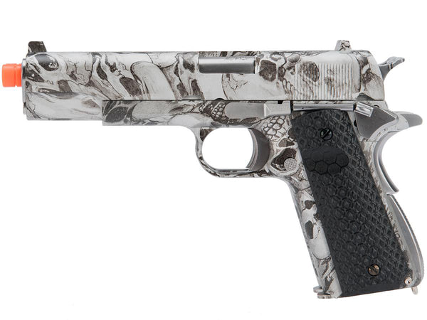 Hi-Capa Double Skull 1911 Pistol by Armorer Works Custom (ASPG188) / Green Gas Airsoft Pistol - Totowa Airsoft