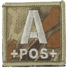 Blood Type A POS Patch (PATCH036A) / Morale Patch - Totowa Airsoft