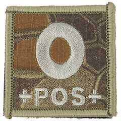 Blood Type O POS Patch (PATCH037A) / Morale Patch - Totowa Airsoft