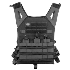 Valken Black Lightweight Plate Carrier II Vest (PC2BLK) / Tactical Vest - Totowa Airsoft