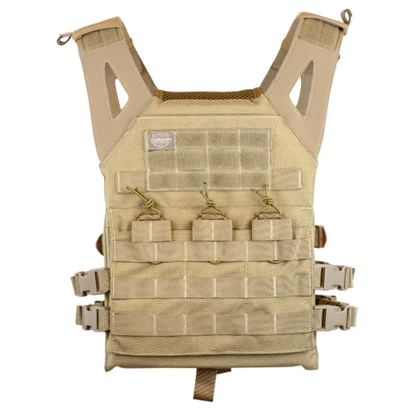 Valken Tan Lightweight Plate Carrier II Vest (PC2TAN) / Tactical Vest - Totowa Airsoft