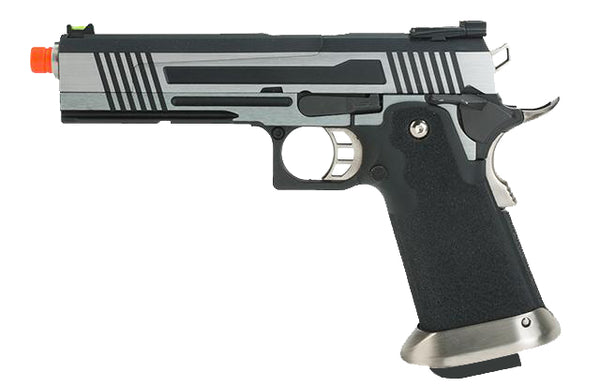 Hi-Capa Zebra 1911 Split Slide Pistol by Armorer Works Custom (ASPG177SS) / Green Gas Airsoft Pistol - Totowa Airsoft