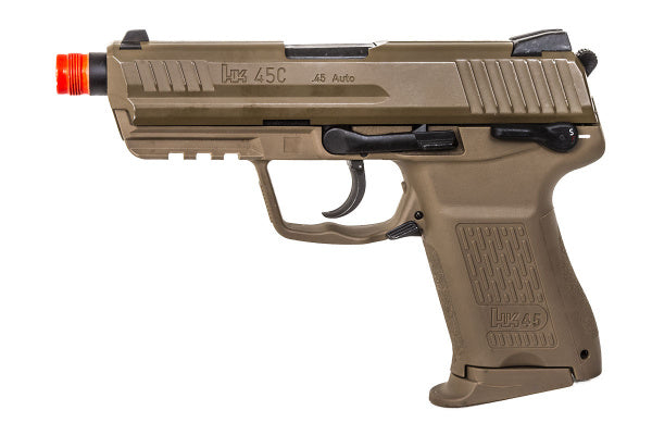 H&K HK45CT Pistol by Umarex (ASPG203T) / Green Gas Airsoft Pistol - Totowa Airsoft