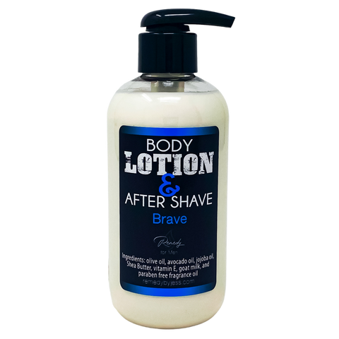 Brave Men's Body Lotion & After Shave