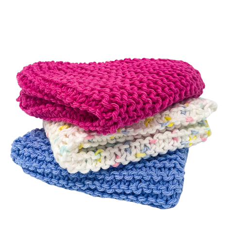 Handmade Knit Washcloth