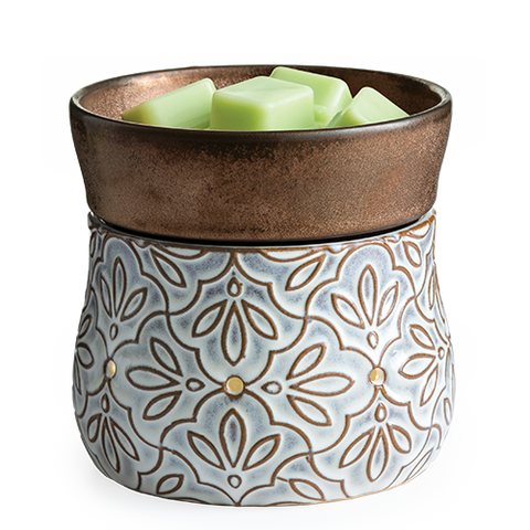Bronze Floral 2-in-1 Wax & Candle Warmer