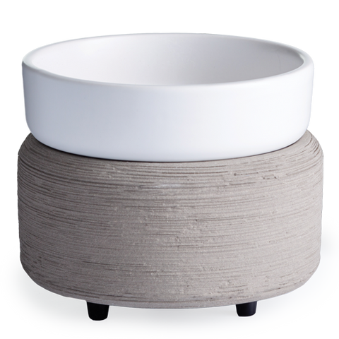 Grey & White Textured 2-in-1 Wax & Candle Warmer