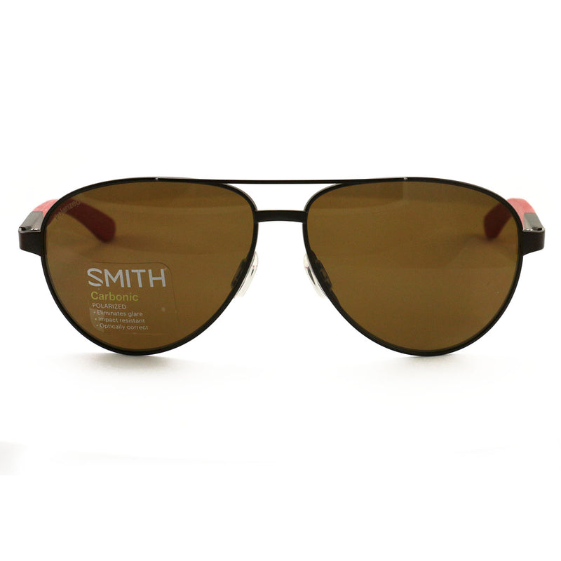 SMITH Salute 04IN Matte Brown Red / Brown Polarized 59mm Sunglassesess