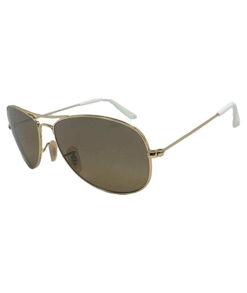 Ray Ban RB3362 001/3K Gold / Light Brown 59mm Sunglasses