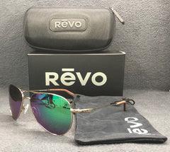 REVO Observer RE 1033 04 GN Gold / Green Mirror Polarized 58mm Sunglasses