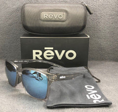 REVO Branson RE 6012GF 10 BL Grey Clear / Blue Water Mirror Polarized 59mm Sunglasses