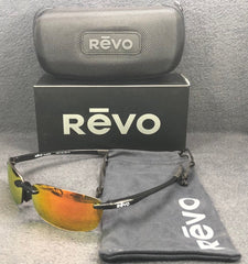 REVO DESCEND RE4060GF 01 OG Shiny Black / Solar Orange Mirror Polarized 64mm Sunglasses