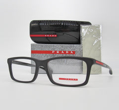 Prada PS 02CV 1BO1O1 Matte Black / Demonstration Lens 55mm Eyeglasses