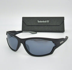 Timberland TB9070 02D Matte Black / Smoke Polarized 66mm Sunglasses