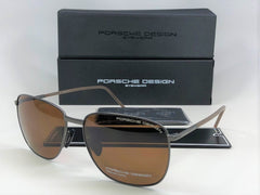 PORSCHE DESIGN P8630B V403-E88 Gunmetal / Brown Polarized 58mm Sunglasses