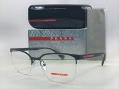 Prada PS 51IV TFZ101 Grey Rubber / Demo Lens 55mm Eyeglasses